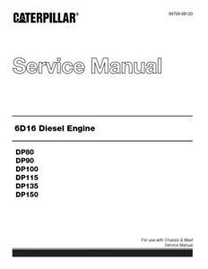 caterpillar cat 6d16 diesel engine service manual reprinted 2011 rh ebay co uk Mitsubishi Outlander 2003 Mitsubishi Lancer Manual Cover