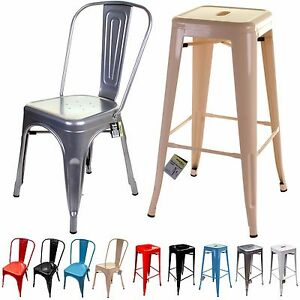 Superbe Image Is Loading Metal Chair Bar Stool Tolix Style Industrial Dining