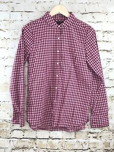 Womens J.Crew Boy Long Sleeve Button Down Blouse Size 10 Squares