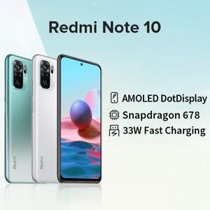 Xiaomi Redmi note 10 4+64GB Smartphone AMOLED Display 48MP 33W Globale Version