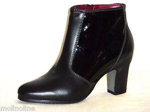 d'hiver et Bottines pour femmes cuir peinture Melluso H2024 ti en noir dzA0nq0Zx