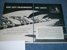 """1957 Volkswagen Vintage Info Article """"Who Says Volkswagen Are Lousy!"""" VW"""