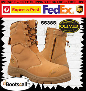 0b9fa191e80 Details about Oliver ATs Mens Safety Work Boots Steel Toe Cap ZIP Side  200mm High 55385 +BOX