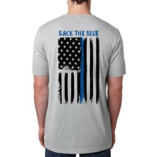 THIN BLUE LINE FLAG POLICE LIVES MATTER COPS OFFICER T-SHIRT Vintage Men Gift...