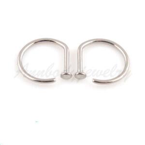 Solid-Titanium-Nose-Ring-Open-D-Hoop-18-Gauge-18G-16g-5-16-034-8mm-New-Style