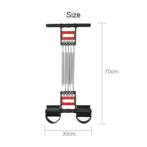 Heavy Duty Muscle Training Exercise 5 Springs Chest Pull Expander Sport Fitness