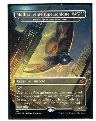 Mothra Supersonic Queen NM Foil Ikoria IKO Luminous Broodmoth MTG English Magic