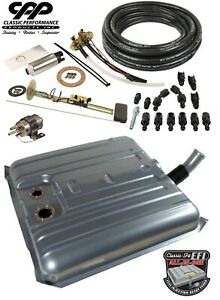 1958 58 Chevy Impala Ls Efi Fuel Injection Gas Tank Fi Conversion Kit 90 Ohm Ebay