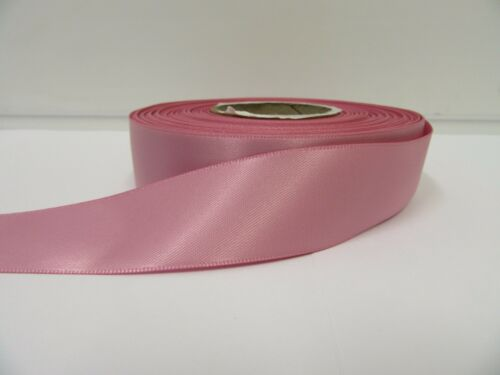 3mm 7mm 10mm 15mm 25mm 38mm 50mm WILD ROSE PINK Satin Ribbon double sided roll