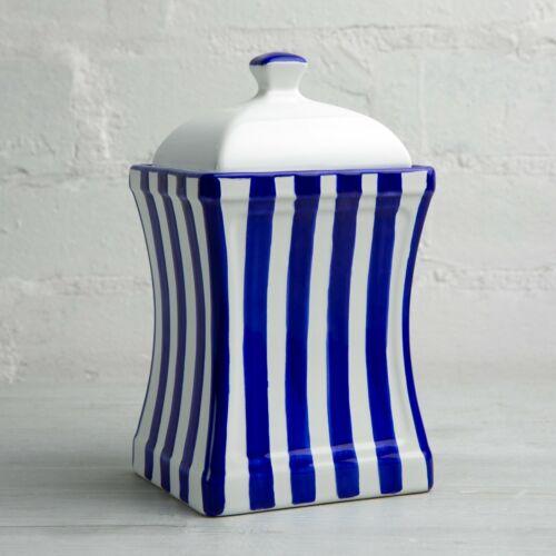 Buy Handmade Dark Navy Blue Stripe Ceramic Large Kitchen Canister Cookie Jar Online In Slovakia 401624869975