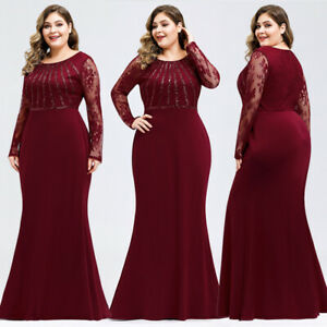 Ever-Pretty-US-Lace-Sleeve-Long-Evening-Dress-Mother-Of-Bride-Mermaid-Prom-Gowns