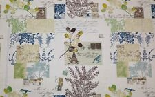 """RICHLOOM BRIGITTE SKY BLUE FRENCH SCRIPT PARIS FLORAL FABRIC BY THE YARD 54""""W"""