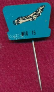 Vintage MIG 15 Aircraft Fighter Plane Metal Pin ~Lapel Badge~ RUSSIAN JETFIGHTER