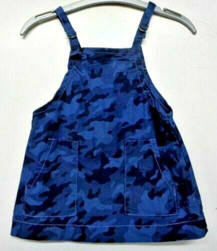 "0-12 MONTHS KHAKI CAMOUFLAGE BLUE BABY GIRLS /""NEXT/"" PINAFORE DRESS BRAND NEW"