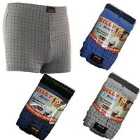 6 Pairs Men's Check Boxer Shorts Underwear, Cotton Boxers, XL 2XL 3XL 4XL 5XL 6X