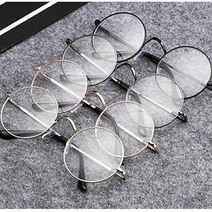 Fashion-Retro-Round-Frame-Men-Women-Vintage-Clear-Lens-Glasses-Eyeglasses-Unisex
