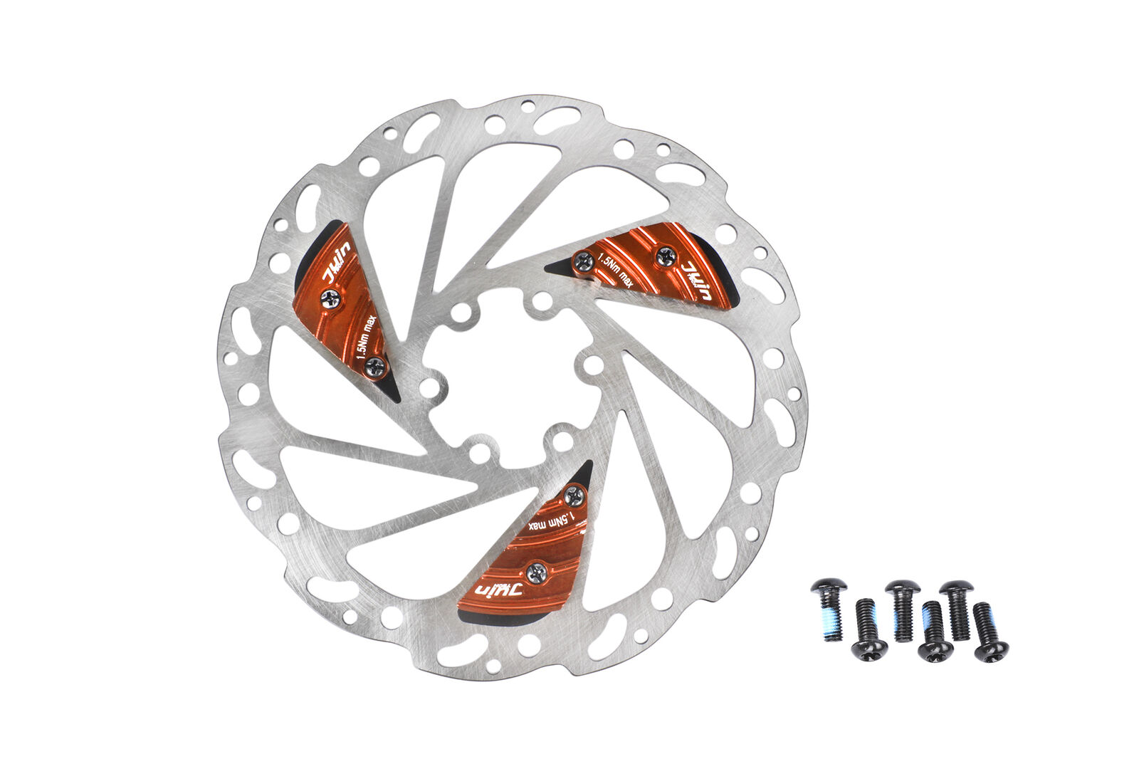 Juin Tech RO30 Mountain CX Bicycle Bike Disc Brake Vent-Vane Vent-Vane Vent-Vane rojoor 160mm naranja 6bc279