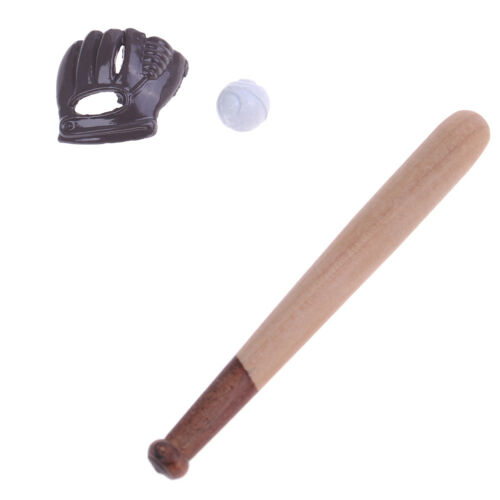 1:12 Dollhouse miniature furniture sport accessory baseball bat /& mitt setH`US