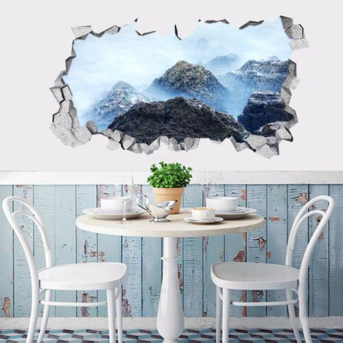 3D Cloud hill 627 Wall Murals Stickers Decal breakthrough AJ WALLPAPER AU Lemon