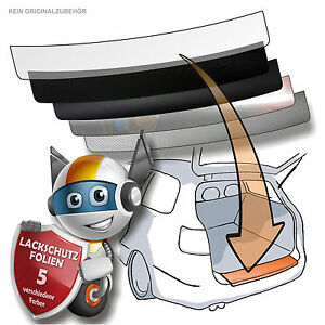 LADEKANTENSCHUTZ Lackschutzfolie für RENAULT TWINGO 2 ab 2012 150µm schwarz