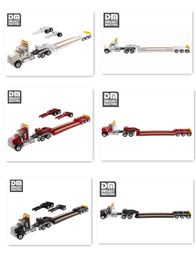 1 50 Diecast Masters HX520 cabina de Día de tándem Tractor Con Remolque De Juguete XL 120 Lowboy