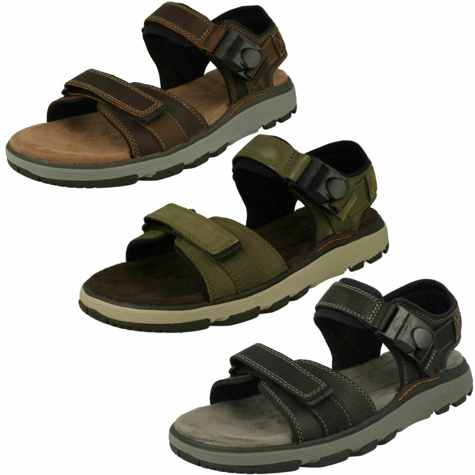 Mens Clarks Casual  Strapped Sandals - Un Trek Part  sconti e altro