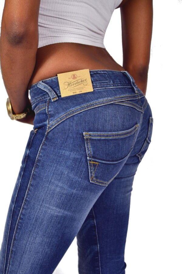 Herrlicher Knack Po Jeans GILA SLIM 5606 D9666 TRAFFIC Blau Neu W29 W31 L32