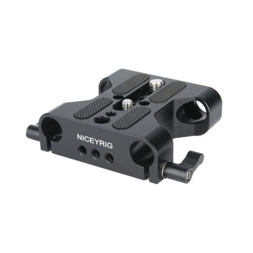 Niceyrig placa base cámara w 15mm railblock para DSLR 15mm Sistema de Soporte de carril varilla