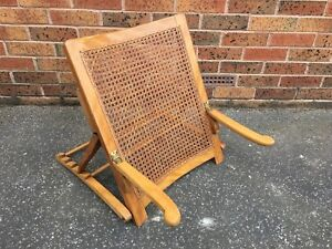 Antiques Rare Antique Adjustable Wood Backrest Circa 1910 Antique Furniture