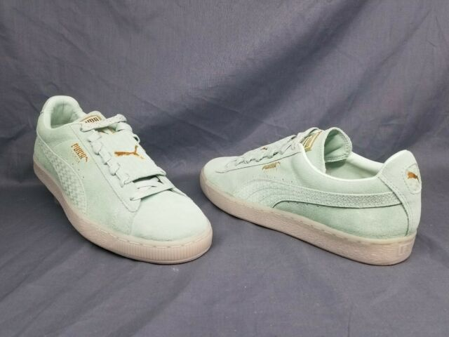 best service ac54c c472c Puma Men's Suede Epic Remix Casual Sneakers Gossamer Green Gold Size 9 NEW!