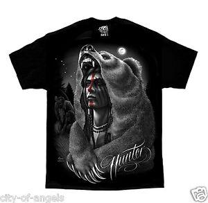 Hunter-Native-American-Indian-Moon-Bear-David-Gonzales-DGA-Art-T-Shirt