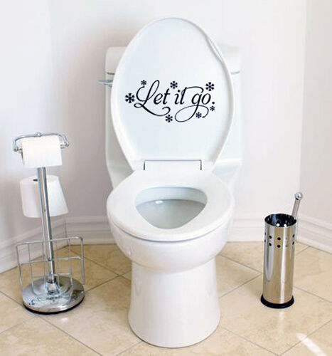 Funny Frozen Inspired Let It Go Sticker for Toilet Cover Bathroom Wall Decal