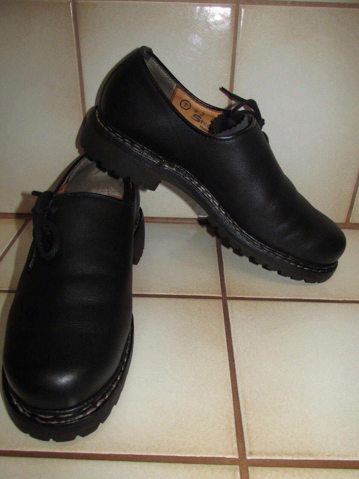 ORIGINAL STEINKOGLER ECHTLEDER HAFERL-chaussures,Gr.40 2 3 UK 7 ZWIEGENÄHT