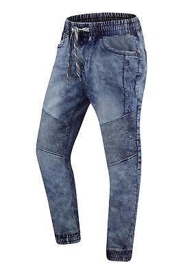 NEW Men Jogger Biker Denim Jean Pants Double Needle Stacked Stretchy Size 30-40
