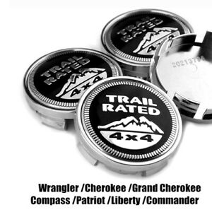 4x-64mm-TRAIL-RATED-4x4-Nabendeckel-Felgendeckel-52110398AA-fuer-Jeep