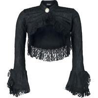 Burleska Dita Black Lace Long Sleeve Bolero Shrug Gothic Victorian Elegant
