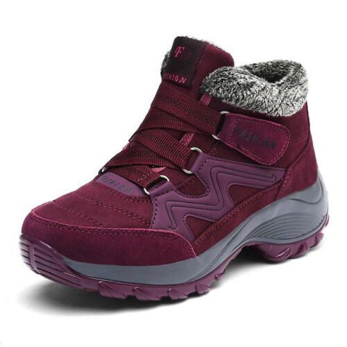 Brand Winter Women Snow Boots Shoes Waterproof Suede Women Warm Plush Krasovki
