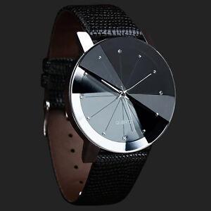 622604ec8720 La imagen se está cargando Reloj-Pulsera -Cuero-Deportivo-Cuarzo-de-Acero-inoxidable-