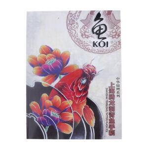 Selected Koi Fish Design Sketch Flash Book Tattoo Art Supplies A4 76 ...