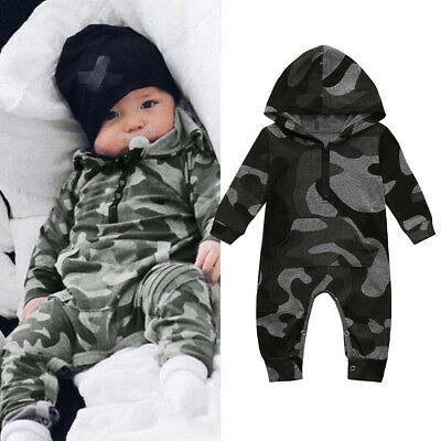 Toddler Baby Boy Girl Winter Romper Jacket Hooded Jumpsuit Coat Outfit Gift HY