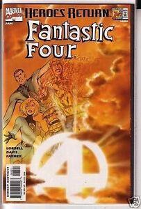 Fantastic-Four-1998-series-1-Sunburst-variant-near-mint-comic