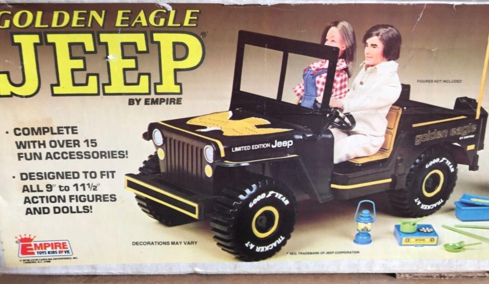 Vintage Plastic Jeep golden Eagle Empire Toys For 1 6 Figures MIB 1978