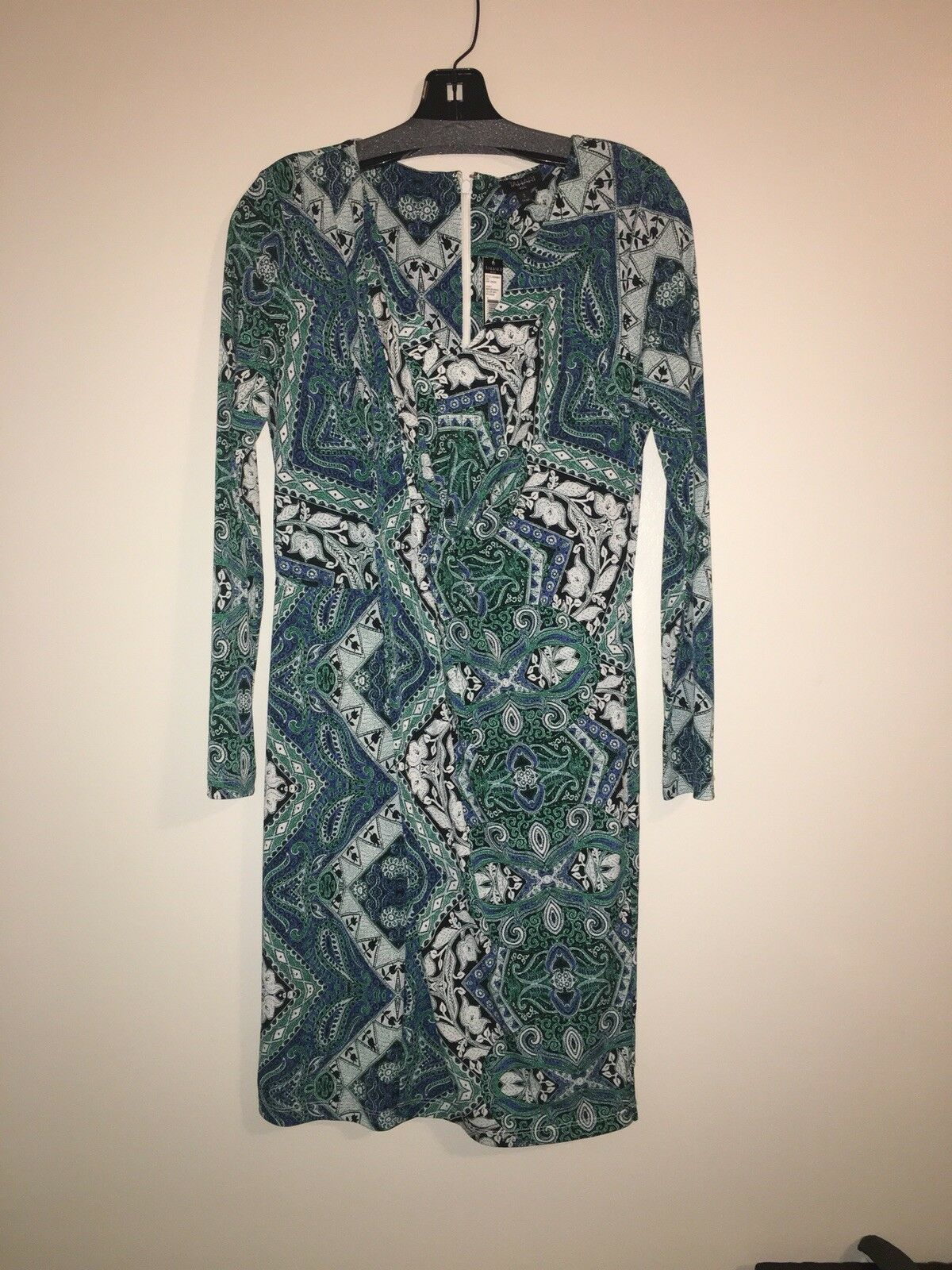 NWT- Tahari long sleeve front ruched dress, Größe s