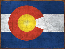 Colorado State Flag Metal Sign, Americana, Rustic Decor, Home Accent