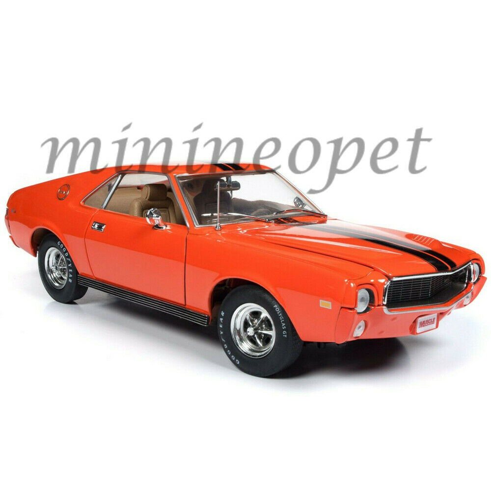AUTOWORLD AMM1170 HEMMINGS MAGAZINE 1969 AMC AMX 1 18 DIECAST CAR Orange