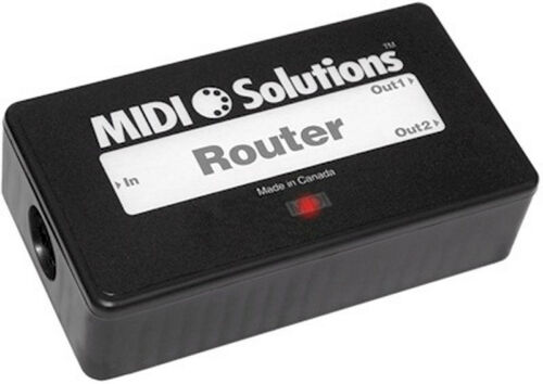 and rechannelize selected MIDI messages filter Midi Solutions Router route