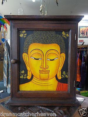 BEAUTIFUL HUGE BUDDHA LANA HAND PAINTED KEY HOLDER BOX FOR WALL RRP $290
