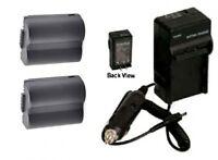 2 Batteries +charger For Panasonic Dmc-fz30bb Dmc-fz30eek Dmc-fz30ees Dmc-fz30eg