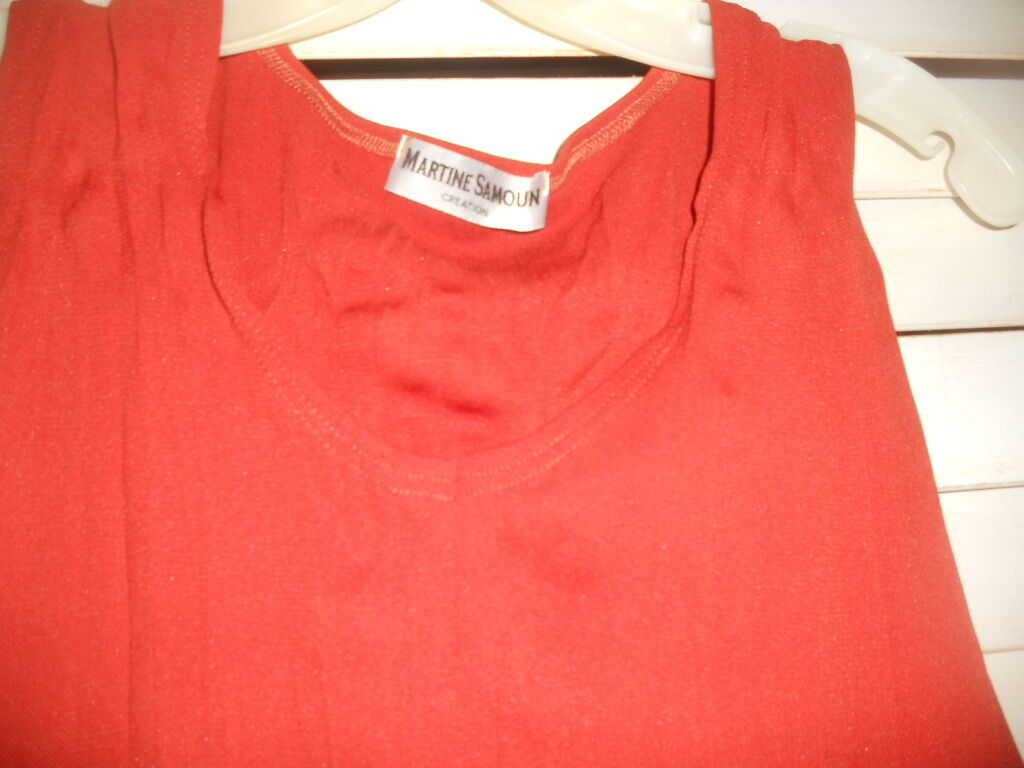NWOT NWOT NWOT Martine Samoun Belgium  Art to Wear  Pumpkin Crinkle Pleat Dress ONLY O S 519d58