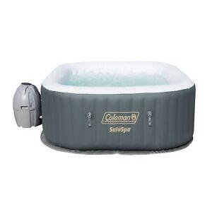 Coleman-SaluSpa-4-Person-Portable-Inflatable-Outdoor-AirJet-Spa-Hot-Tub-Gray